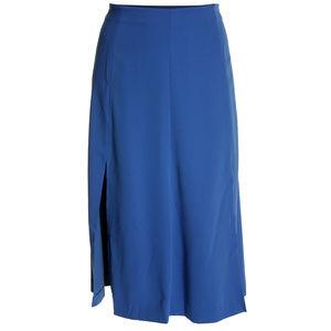 Ralph Lauren 14 Blue Midi Length Split Skirt